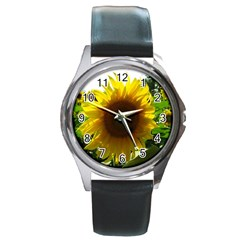 Flower2 Round Metal Watch