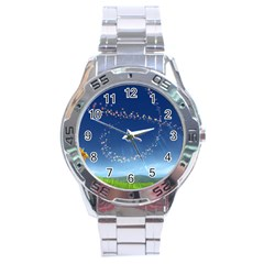 Flower3 Stainless Steel Analogue Men's Watch