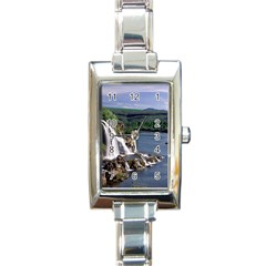 Land2 Rectangular Italian Charm Watch