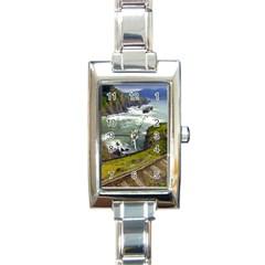 Land3 Rectangular Italian Charm Watch