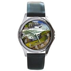 Land3 Round Metal Watch