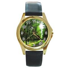 Land4 Round Gold Metal Watch