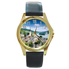 Land5 Round Gold Metal Watch