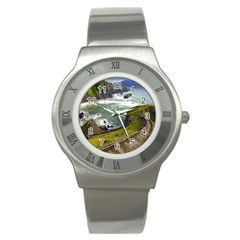 Land3 Stainless Steel Watch