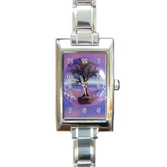 Tree3 Rectangular Italian Charm Watch