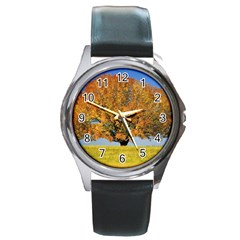 Tree1 Round Metal Watch