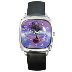 Tree3 Square Metal Watch