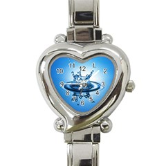 Water1 Heart Italian Charm Watch