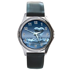Water2 Round Metal Watch