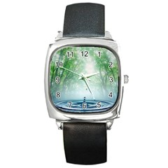 Water4 Square Metal Watch