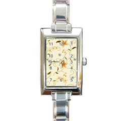 Flower4 Rectangular Italian Charm Watch