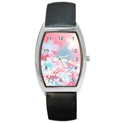 Flower2 Barrel Style Metal Watch
