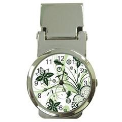 Flower1 Money Clip Watch