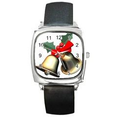 xmas2 Square Metal Watch