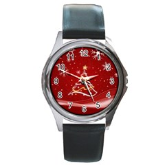 xmas3 Round Metal Watch