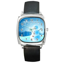 Xmas4 Square Metal Watch