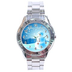 xmas4 Stainless Steel Analogue Men's Watch