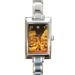 Xmas5 Rectangular Italian Charm Watch