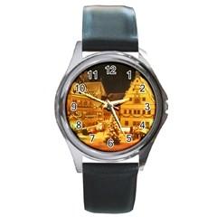 xmas5 Round Metal Watch