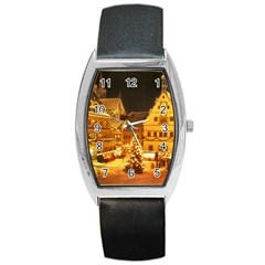 xmas5 Barrel Style Metal Watch