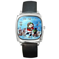 xmas7 Square Metal Watch