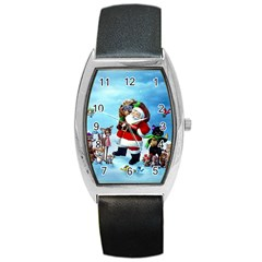 Xmas7 Barrel Style Metal Watch