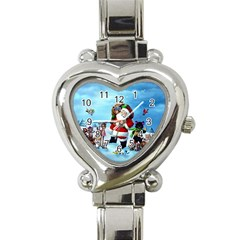 xmas7 Heart Italian Charm Watch