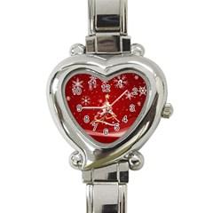 xmas3 Heart Italian Charm Watch