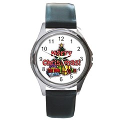 xmas1 Round Metal Watch