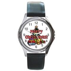 xmas1 Round Metal Watch