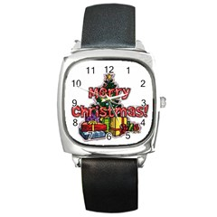 xmas1 Square Metal Watch