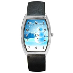Xmas4 Barrel Style Metal Watch