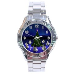 xmas6 Stainless Steel Analogue Men's Watch