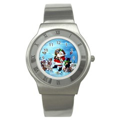 xmas7 Stainless Steel Watch