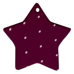 Purple White Dots Ceramic Ornament (star)