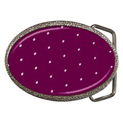 Purple White Dots Belt Buckle