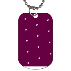 Purple White Dots Dog Tag (One Side)