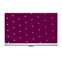 Purple White Dots Business Card Holder