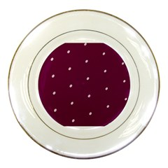Purple White Dots Porcelain Plate