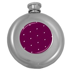 Purple White Dots Hip Flask (5 Oz)