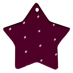 Purple White Dots Star Ornament (Two Sides)