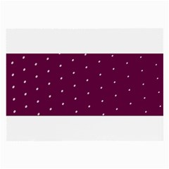 Purple White Dots Glasses Cloth (Large, Two Sides)