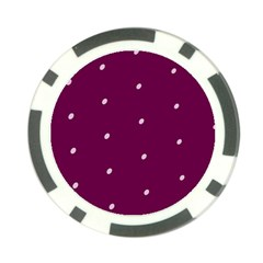 Purple White Dots Poker Chip Card Guard
