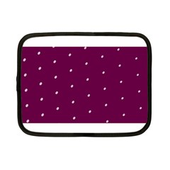 Purple White Dots Netbook Case (Small)