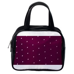 Purple White Dots Classic Handbag (one Side)
