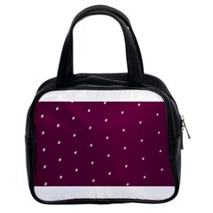 Purple White Dots Classic Handbag (two Sides)