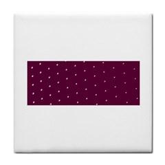 Purple White Dots Face Towel