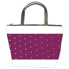 Purple White Dots Bucket Bag