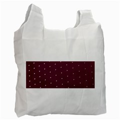Purple White Dots Recycle Bag (one Side)