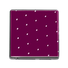 Purple White Dots Card Reader with Storage (Square)